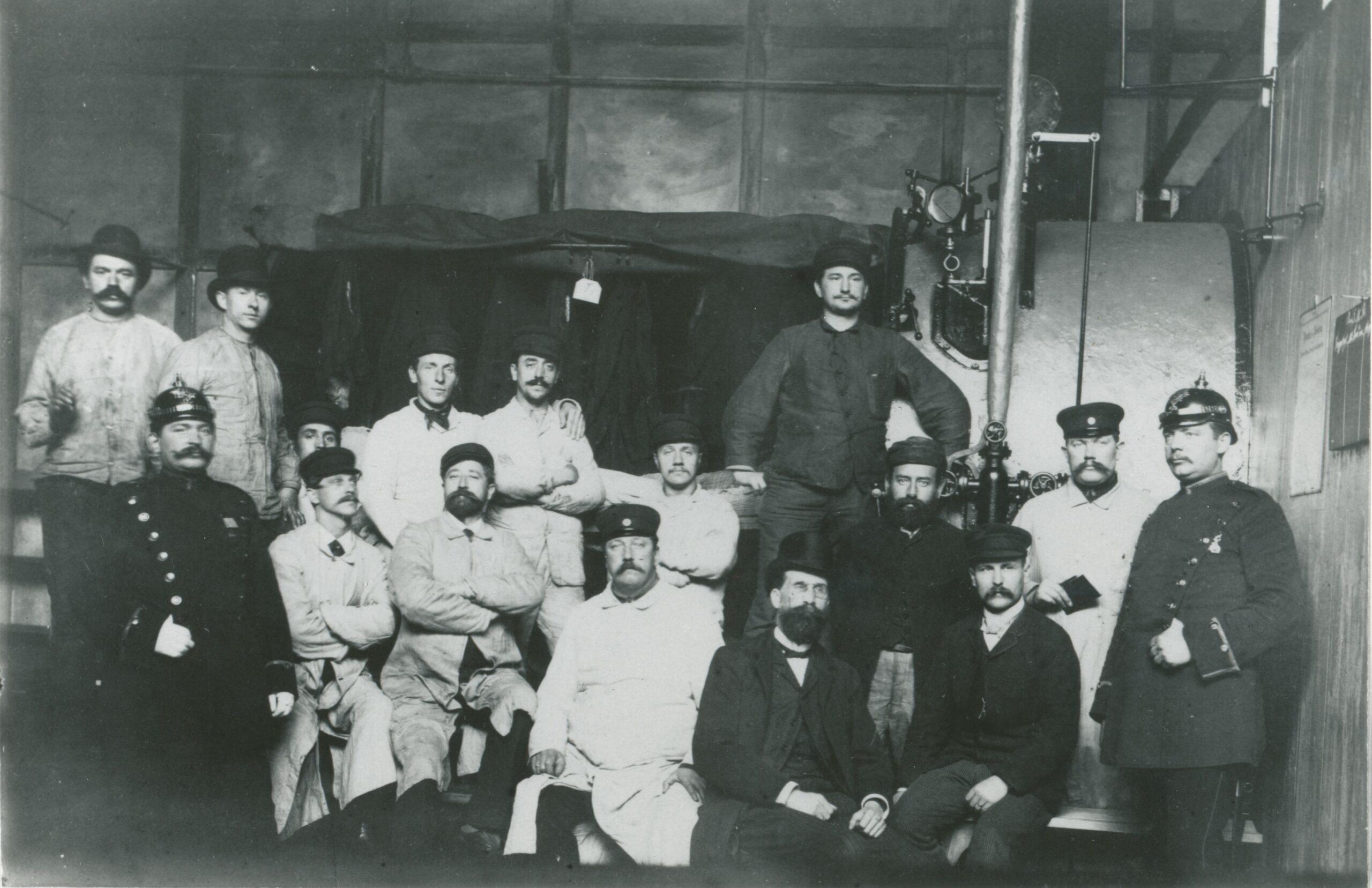 Desinfektionskolonne 1892 während der Choleraepidemie